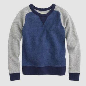 NWT Boys Jcrew baseball sweater, sweatshirt, sz 8